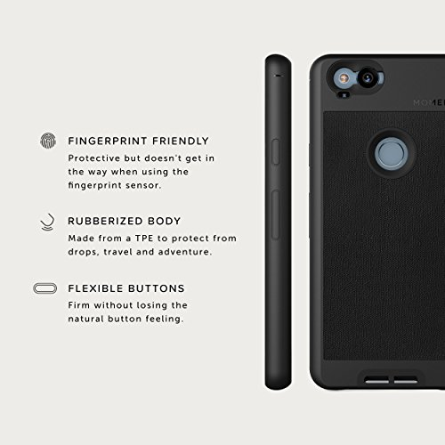 Pixel 2 Case with Telephoto Lens Kit    Moment Black Canvas Photo Case plus Tele Lens    Best google zoom attachment lens with thin protective case. by Moment (Image #5)