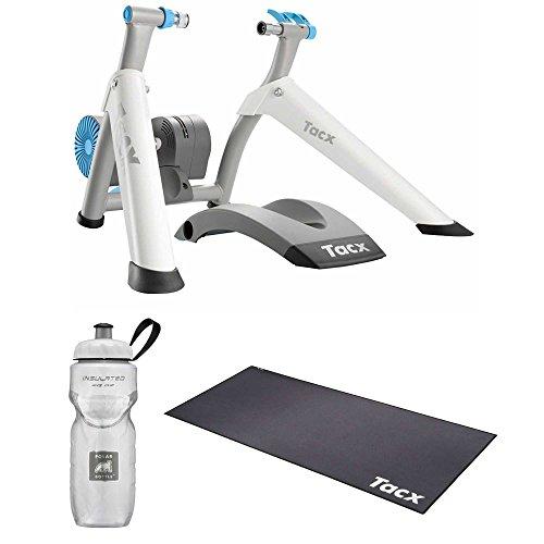(Tacx Vortex Smart Ergotrainer with Electro Brake Plus Trainer Mat, Foldable Plus PolarWater Bottle)