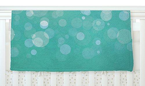 KESS InHouse KESS Original Let It Go Aqua Bokeh Fleece Baby Blanket 40 x 30 [並行輸入品]   B077ZWQ419