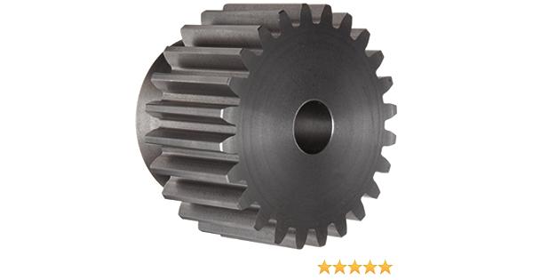 B 3//4 Inch total width Ametric S2022 Inch Steel Spur MPB Gear H 31//32 Inch Hub Dia 0.375 Inch Hub Projection 3//8 Inch +//-1//16 Pilot Bore F 1-125 22 Teeth 3//8 Face Width 1.2 Inch OD, P 14-1//2 Deg 20DP