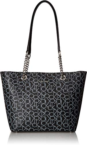 Calvin Klein Hayden Signature East/West Top Zip Chain Tote, ()