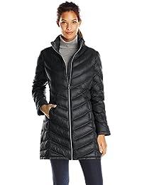 Women's Chevron-Quilted Packable Down Coat