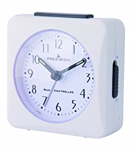 precision prec0050 radio controlled alarm clock white kitchen home. Black Bedroom Furniture Sets. Home Design Ideas