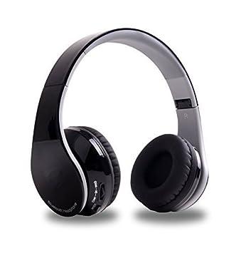 hccolo auricular plegable con cancelación de ruido estéreo de alta fidelidad manos libres inalámbrico con Bluetooth