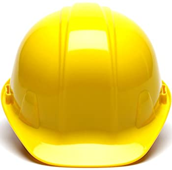 Pyramex Yellow Cap Style 4 Point Snap Lock Suspension Hard Hat 1