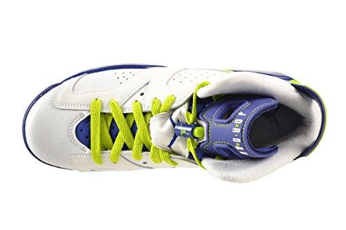 Nike Air Jordan 6 Retro GG, Scarpe da Corsa Bambina Wht, Frc Grn-dp Ryl Bl-hypr Pnk