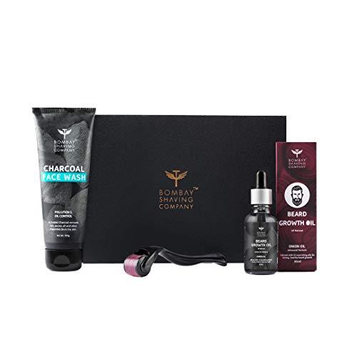Bombay Shaving Company Beard Growth Kit with Onion Beard Growth Oil for Men, Charcoal Face Wash & Beard Activator (Derma…