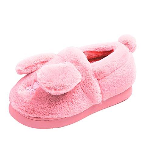Caldo Antiscivolo Famiglia Coniglio Carino Foderato Rosa Morbido Pantofole Comfort nbsp;jds Fortuning's Montato 1fqUXf