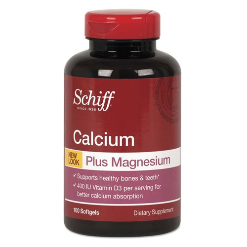 Schiff Bone Minerals - Schiff Calcium, Magnesium with Vitamin D3 Softgel, 100 Count