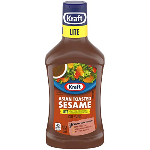 - Kraft Asian Sesame Lite Dressing, 16 fl oz Bottle