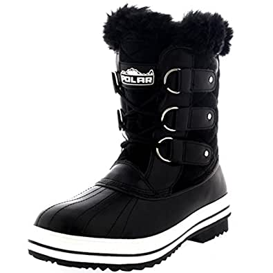 Amazon.com   Polar Products Womens Snow Boot Quilted Short