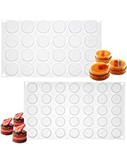 Musykrafties 24 holtes ronde schijfmuis cake siliconen mal lade per holte 3,6x3,6x0,5 cm klein
