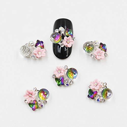 10 Pc Glitter Nail Art Rhinestone 3D Professional Crystal Diamond Finger Design Elegant Popular Small Acrylic Polish Halloween Decor Girls Decoration -
