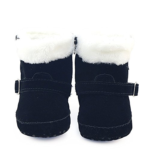 ❀ Toddler Winter Boots For Girls Boys,Winter Baby Crib Shoes Martin Boots Kids By Orangeskycn (0~6 Month, Black)