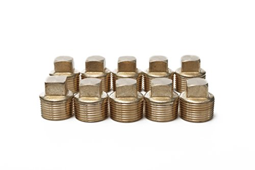 Generic Brass Pipe Square Head Plug Fittings 3/4