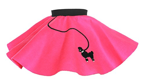 (Hip Hop 50s Shop Baby and Toddler Poodle Skirt (Hot Pink,)