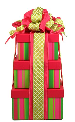Luxury Tower Gift (Gift Basket Village with A Cherry On Top, Sweets and Spa Tower, 8 Pound)