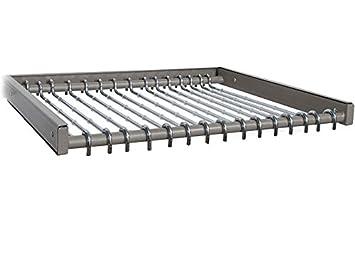 Organized Living FreedomRail Reveal Pant Rack   Nickel
