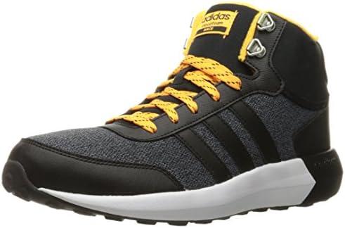 adidas Men's Cloudfoam Race WTR mid Running Shoe, Black/Solar Gold ...