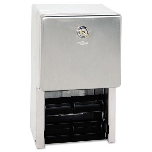 Bobrick Stainless Steel 2-Roll Tissue Dispenser, 6 1/4 x 6 x 11, Stainless Steel - BMC-BOB 2888