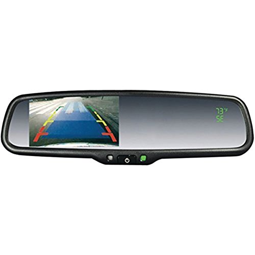 CRIMESTOPPER SV-9157.CT OEM Replacement-Style Mirror with 4.3 Screen, Compass & Temperature Display Car Accessories