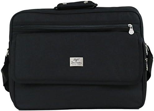 4b6fb59b9ef6d XXL und kleiner Schultertasche Aktentasche Flugbegleiter Laptop  Umhängetasche Business Messenger Bag Notebook Tasche Black SchwarzNEU  (Modell 3)