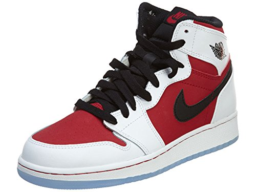 promo code dc61e c2704 Nike Air Jordan 1 Retro High OG BG 575441-123 White Black Carmine Kids  Shoes (size 5y) - Buy Online in Oman.   Apparel Products in Oman - See  Prices, ...