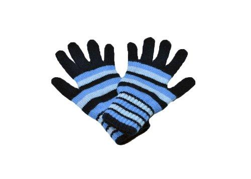 レディースストライプカシミア手袋