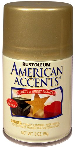 Rust-Oleum 209674 American Accents Craft & Hobby Spray Paint, 3 oz, Gold Metallic (Crafters Spray Metallic)