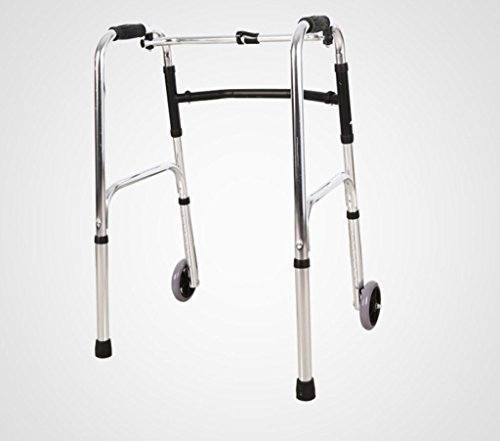 Walker Aluminum Alloy Elderly Pulleys Walker Folding Walking Auxiliary Drive Medical Crutches Drive Medical Walkers black by jiaminmin