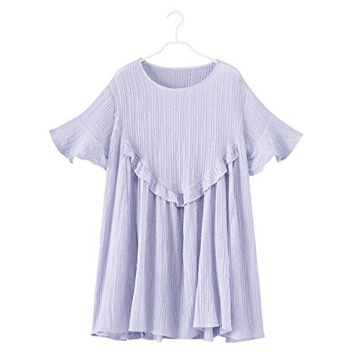 Enfants Femme lache Longue Une Robe Robes S Taille Jupe Mousseline Taille Jupe Lavande MiGMV PzwFnxz