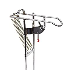This is LeaningTech RHA-01 Stainless Fishing Rod Holder Rack, with Automatic Tip-Up Hook Setter, Double Spring, Adjustable Folding HolderFeature *High impact resistant construction & prism construction, more stable.  *The prism constructi...