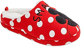 e6d7c77acf35c Disney Mickey and Minnie Mouse Slippers for Women Size L M 7/8 Red ...
