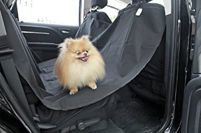 "OxGord® Pet Dog Car Seat Cover for Rear Bench Seat - 2015 Hammock Style - Passenger Can Still Use Seat Belts - Thick HD Fabric Waterproof and Washable - 58"" x 57"" Easy Install Fits Most Cars, SUV, Vans & Trucks"