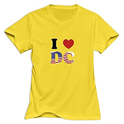 LXQL1 Women's I LOVE DC T-Shirt