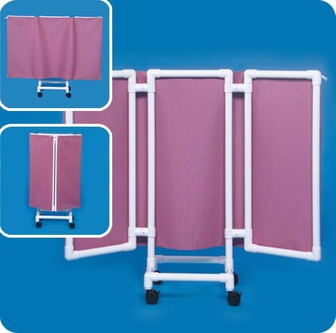 Privacy Screen with 53 Inch Height - WPS53P - Pink Cover by Innovative Products Unlimited
