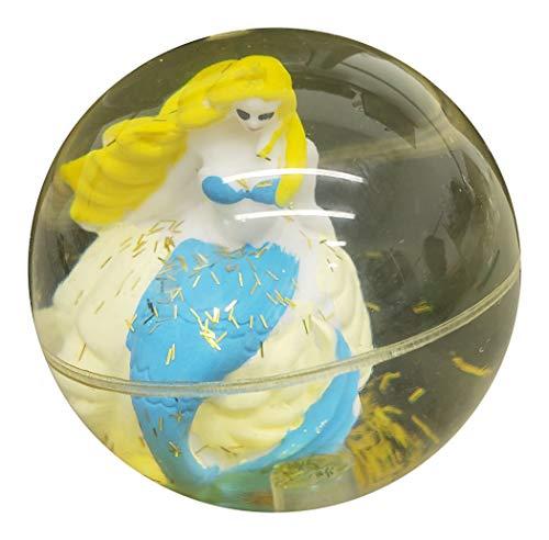 Easter Bunny Bouncing Balls - Ganz Blinking Light Up Bouncing Balls for Kids ~ Floating Mermaid, Unicorn or Glitter Bunny Inside (Mermaid)