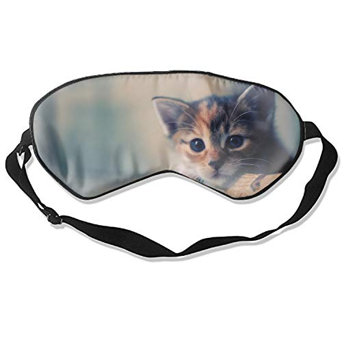 (Sleep Mask Kitten Spotted Muzzle Dear Waiting Eye Cover, Soft & Comfortable Blindfold for Total Blackout & Light Blocking, Multicolor)