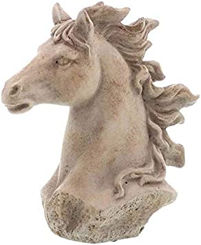 Linoows Pferdebüste, Cabeza de Caballo, Figura de Jardín Caballo, Jardín Skuptur de Hormigón