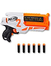 NERF Ultra Two Motorized Blaster - Fast Rear Reloading - Includes 6 Ultra Darts - up to 25m - Ultra Darts only - Kids Toys & Outdoor Play - Ages 8+