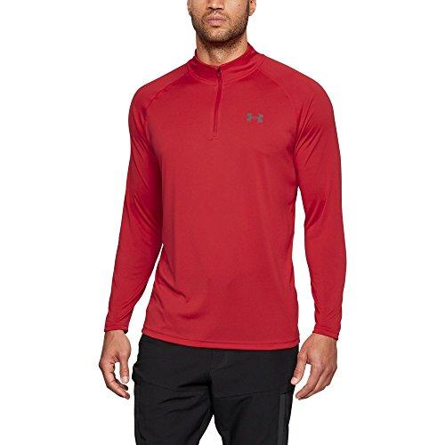 Under Armour Men's Tech 1/4 Zip Shirt, Pierce/Graphite, X-Large (Shirt Quarter Zip)