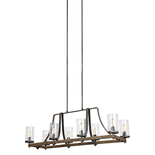 Feiss F3136/8DWK/SGM Eight Light Island Chandelier by Feiss (Image #1)