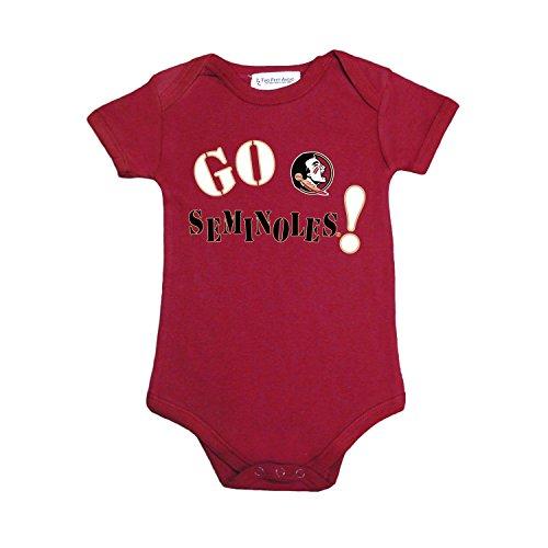 Florida State Onesie - Two Feet Ahead Florida State Seminoles Go NCAA College Newborn Infant Baby Creeper (6 Months)