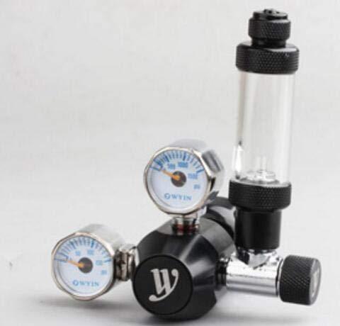 Fevas CO2 Set Decompression Table Carbon Dioxide Check Meter Bubble Pressure Gauge Mini Double Table - (Color: Black)