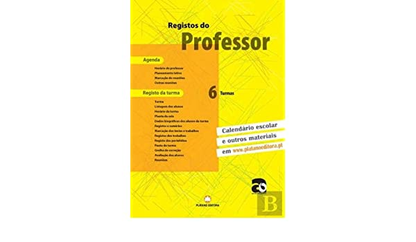 Registos do Professor 6 Turmas (Portuguese Edition): Plátano ...