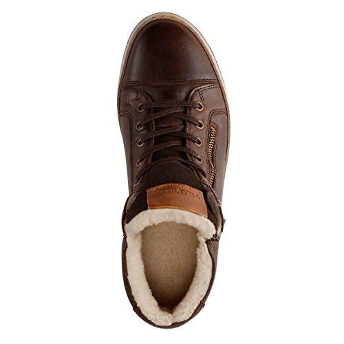 Travelin Nordby Winter Chukka Boots | Schnürhalbschuhe Wolle Gefüttert Herren | Sneakers Men | Freizeitschuhe | Lederschuhe in Braun 43 EU