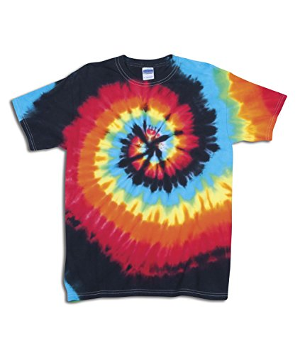 - Gildan Tie Dye 70 Men's Adult Rainbow Swirl Tie-Dye Tee Illusion Medium