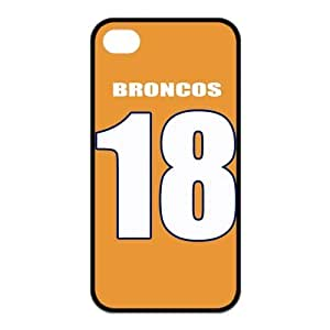 Football Classic 18 Orange Jersey Hot Rubber Case Cover for Iphone 4 4s