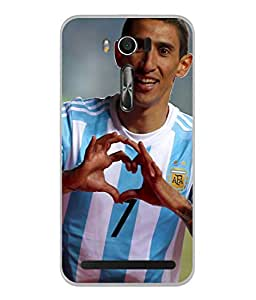 ColorKing Football Dimaria Argentina 02 Multi Color shell case cover for Asus Zenfone 2 Laser ZE550KL