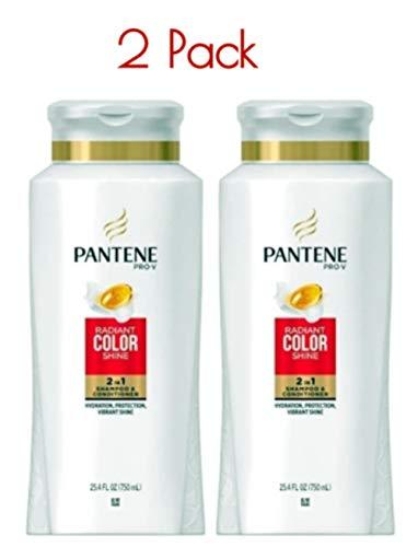 Pantene Pro-V Dream Care 2 in 1 Radiant Color Shine Shampoo & Conditioner 25.40 oz (Pack of 2)